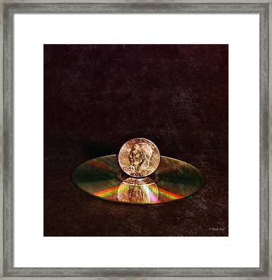 Silver Dollar Framed Print by Peter Chilelli