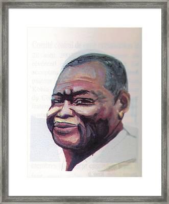 Simon Kimbangu Framed Print by Emmanuel Baliyanga