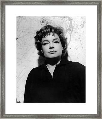 Simone Signoret, 1963 Framed Print by Everett