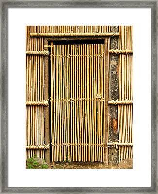 Simple Bamboo Door Framed Print by Yali Shi