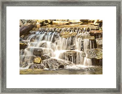 Simple Yet Powerful Waterfall Framed Print by Daphne Sampson