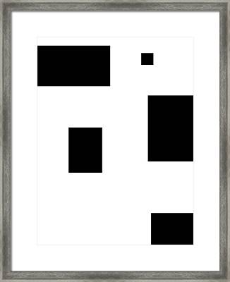 Simply Black Blocks Sbb Framed Print by Stefan Kuhn