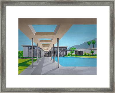 Sinatra House One Framed Print by Randall Weidner