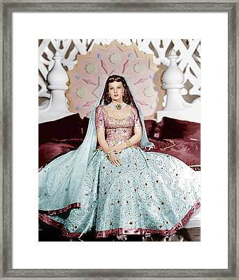 Sinbad The Sailor, Maureen Ohara, 1947 Framed Print by Everett