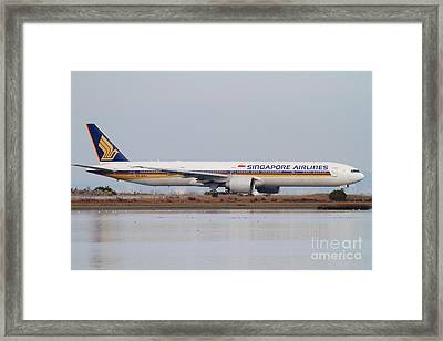 Singapore Airlines Jet Airplane At San Francisco International Airport Sfo . 7d12142 Framed Print by Wingsdomain Art and Photography