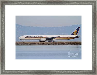 Singapore Airlines Jet Airplane At San Francisco International Airport Sfo . 7d12163 Framed Print by Wingsdomain Art and Photography