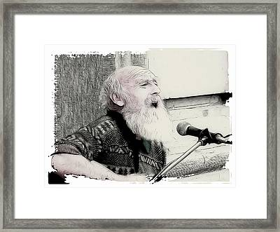Singing The Old Songs Framed Print by Tilly Williams