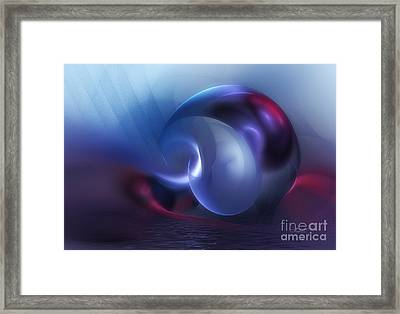 Sinking Planet Framed Print by Jutta Maria Pusl