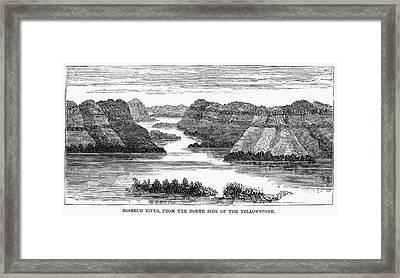 Sioux: Rosebud River Framed Print by Granger