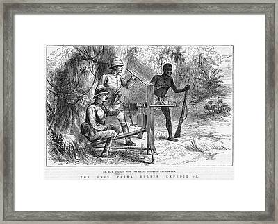 Sir Henry Morton Stanley (1841-1904). English Journalist And Explorer. Wood Engraving From An English Newspaper Of 1887 Framed Print by Granger