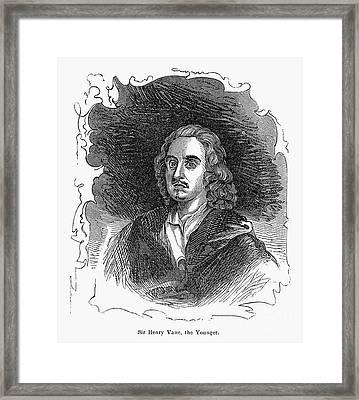 Sir Henry Vane (1613-1662) Framed Print by Granger