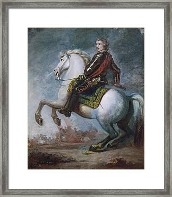 Sir Jeffrey Amherst Framed Print by Sir Joshua Reynolds