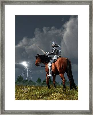Sir Lightning Rod Framed Print by Daniel Eskridge