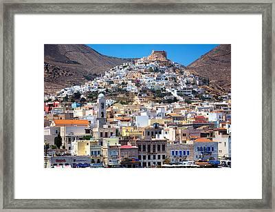 Siros Framed Print by Emmanuel Panagiotakis