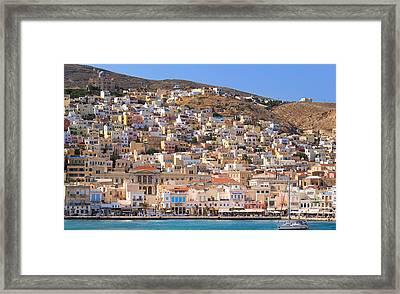 Siros Greece 2  Framed Print by Emmanuel Panagiotakis