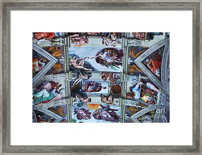 Sistine Chapel Ceiling Framed Print by Bob Christopher
