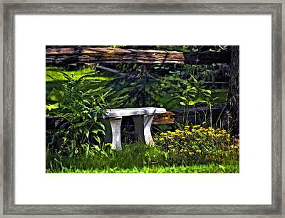 Sit A Spell Framed Print by Steve Harrington