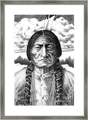 Sitting-bull Framed Print by Gordon Punt