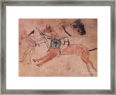 Sitting Bull Wins His First Battle Framed Print by Photo Researchers