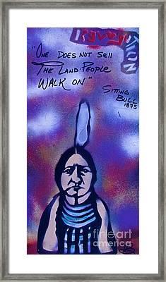 Sitting Bull...land Framed Print by Tony B Conscious
