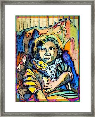 Sitting Gertie Framed Print by Mindy Newman