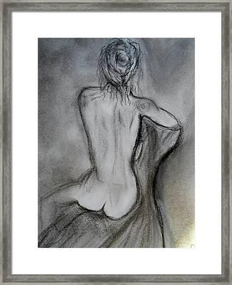 Sitting Framed Print by Mary DeLawder