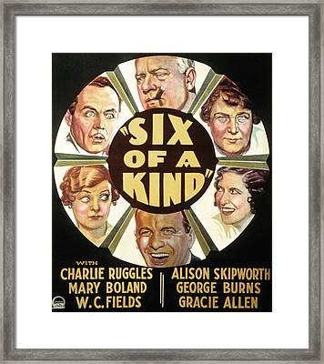 Six Of A Kind, Clockwise, W.c. Fields Framed Print by Everett