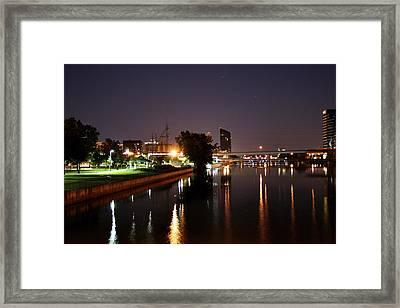 Sixth Street Bridge Park Framed Print by Richard Gregurich