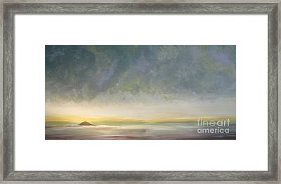 Skaket - Waiting On The Storm Framed Print by Jacqui Hawk