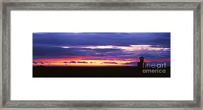 Skardsvik Lighthouse At Sunset Framed Print by Jeremy Woodhouse