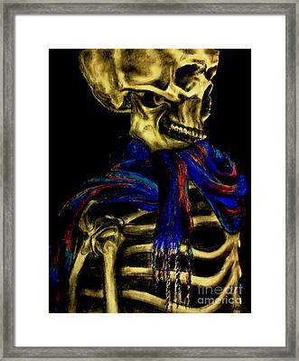 Skeleton Fashion Victim Framed Print by Tylir Wisdom