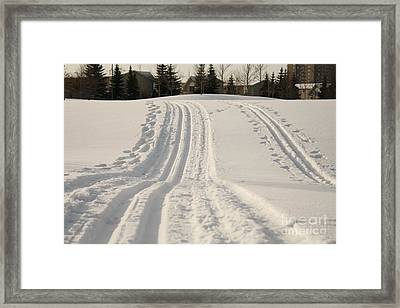 Skier's Heaven Framed Print by Kristi Jacobsen