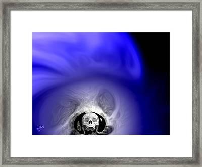 Skull Scope 1 Framed Print by Adam Vance