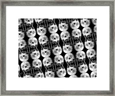 Skull Scope 5 Framed Print by Adam Vance