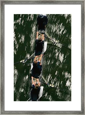 Skullers On The Potomac River In D.c Framed Print by Brian Gordon Green