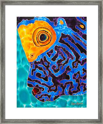 Blue Angelfish Framed Print by Daniel Jean-Baptiste