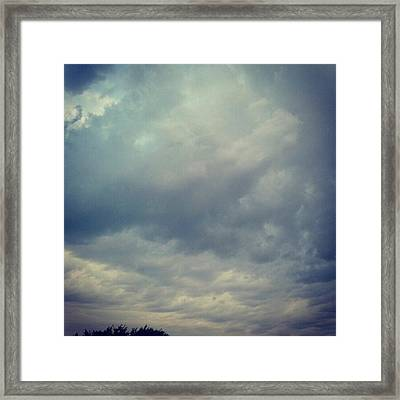 #sky #clouds #nature #andrography Framed Print by Kel Hill