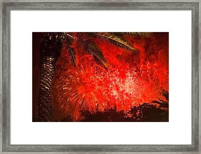 Sky Fire Framed Print by Debra and Dave Vanderlaan
