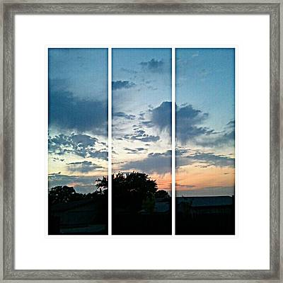 #sky #sunset #clouds #andrography Framed Print by Kel Hill