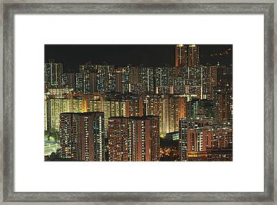 Skyline At Night Framed Print by Ryan Cheng Photography