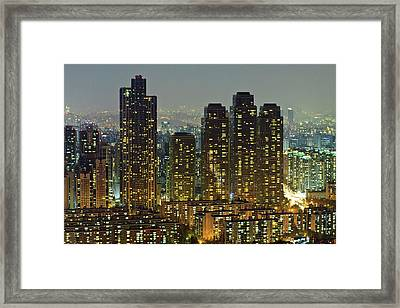 Skyscrapers Framed Print by SJ. Kim