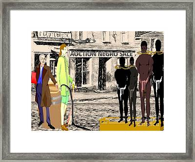Slave Auction Framed Print by Belinda Threeths