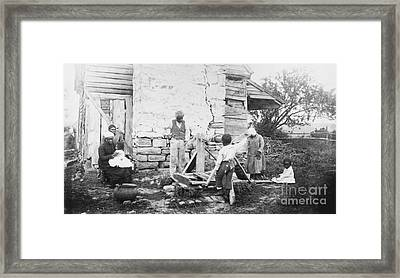 Slave Quarters Framed Print by Photo Researchers