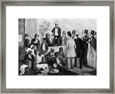 Slavery Auction, In The United States Framed Print by Everett