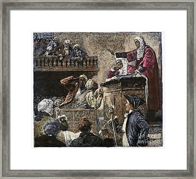 Slaves In Court, 1741 Framed Print by Granger