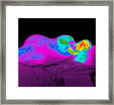 Sleep Thermogram Framed Print by Dr. Arthur Tucker