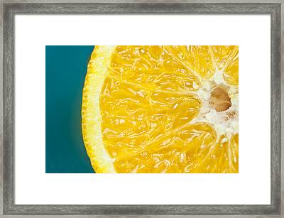 Sliced Orange Framed Print by Bill Brennan