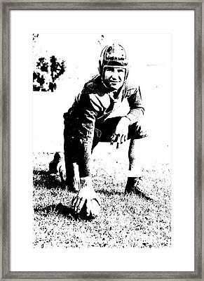 Slingin' Sammy Baugh 1937 Litho Framed Print by Padre Art