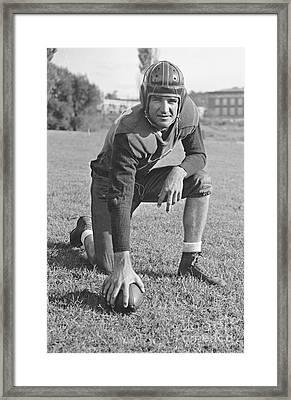 Slingin' Sammy Baugh 1937 Framed Print by Padre Art