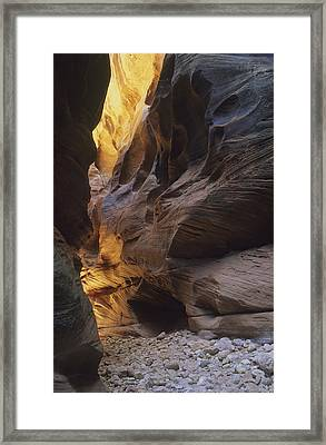 Slot Canyon Framed Print by Cliff Wassmann